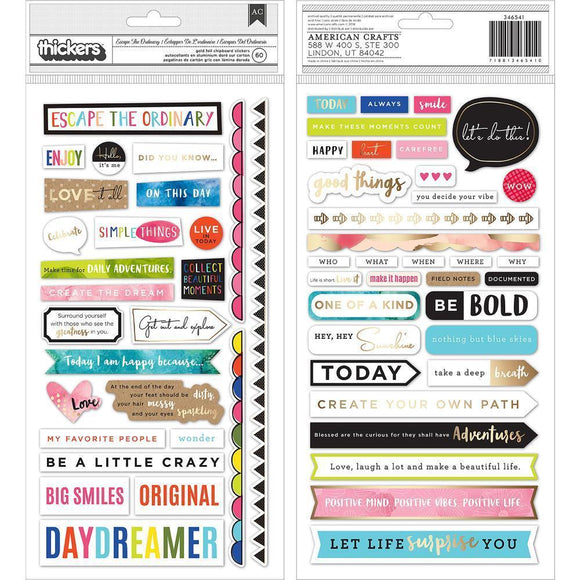 Scrapbooking  Vicki Boutin Thickers Stickers 5.5