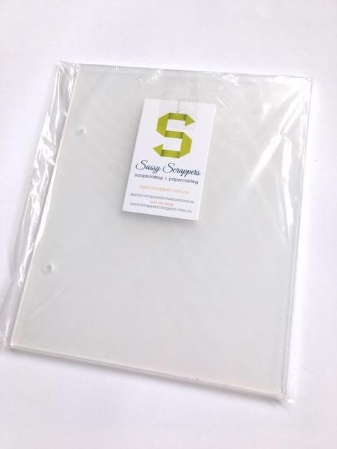 Scrapbooking  Clear Acrylic Album Covers with 2x metal rings