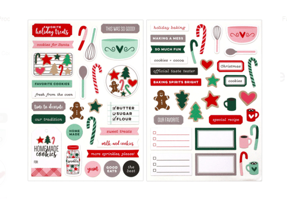 Scrapbooking  Elles Studio - Document December Christmas Cookie Cardstock Stickers kit