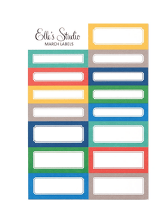 Scrapbooking  Elles Studio - March 20 Labels kit