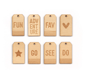 Scrapbooking  Elles Studio - Wood Veneer Adventure Tags kit