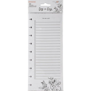 "Scrapbooking  Maggie Holmes Day-To-Day Dbl-Sided Notepad 4.25""X11"" 60/Pkg Shopping & To-Do List"