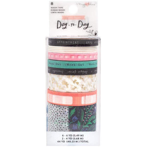 Scrapbooking  Maggie Holmes Day-To-Day Planner Washi Tape 8/Pkg Daily
