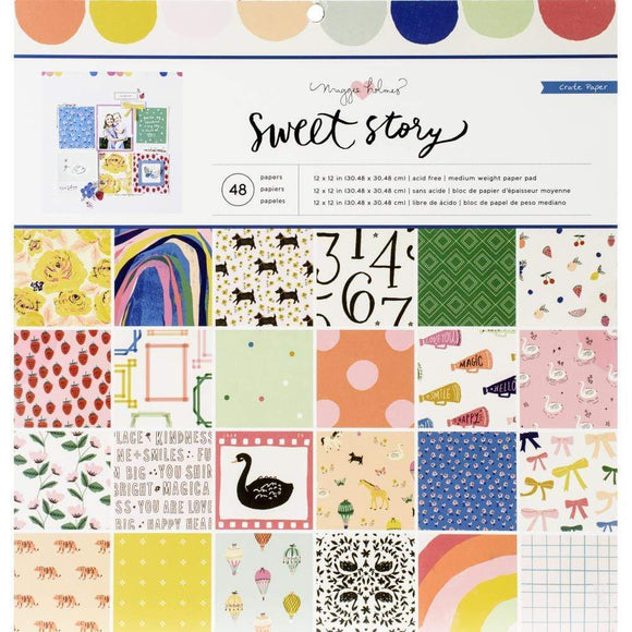 Scrapbooking  Crate Paper Maggie Holmes Sweet Story Single-Sided Paper Pad 12