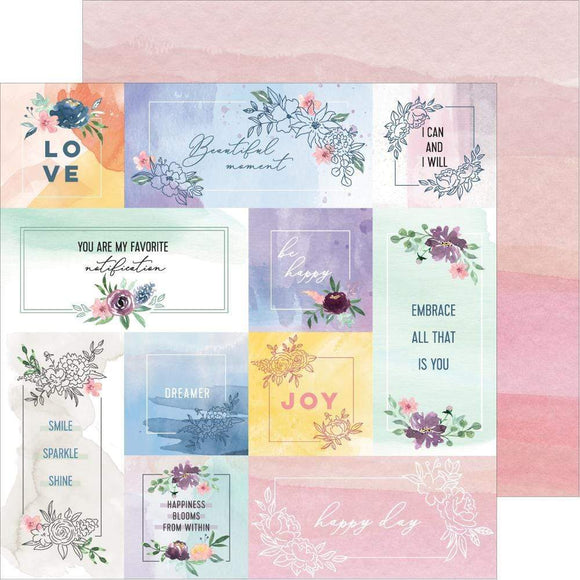 Scrapbooking  Just A Little Lovely Double-Sided Cardstock 12