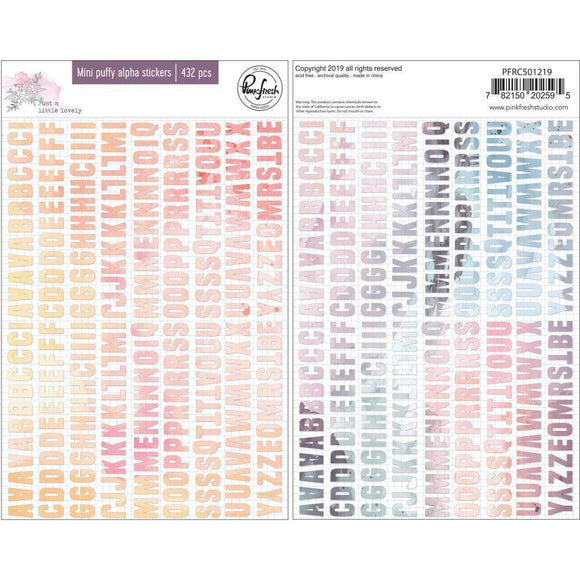 Scrapbooking  Just A Little Lovely Puffy Mini Alpha Stickers , 432/Pkg Paper 12x12