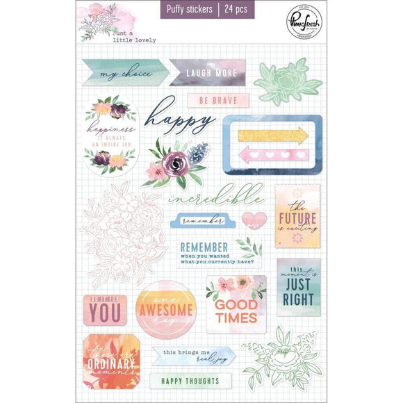 Scrapbooking  Just A Little Lovely Puffy Stickers 24 pk Paper 12x12