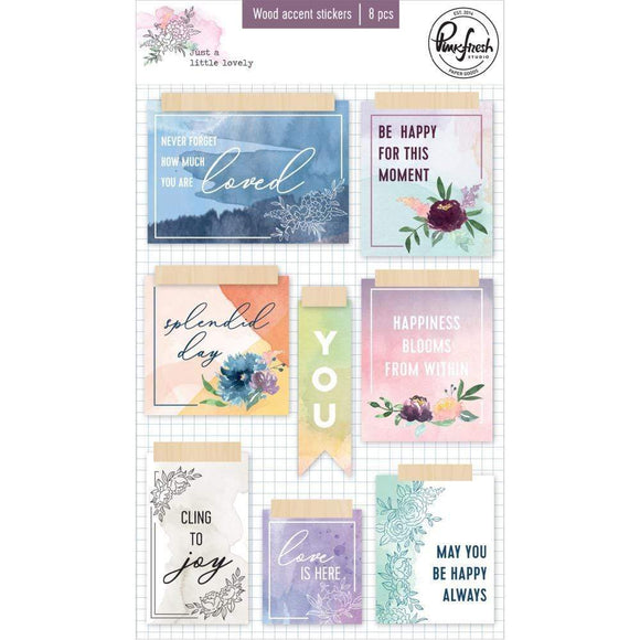 Scrapbooking  Just A Little Lovely Wood Veneer Stickers 5