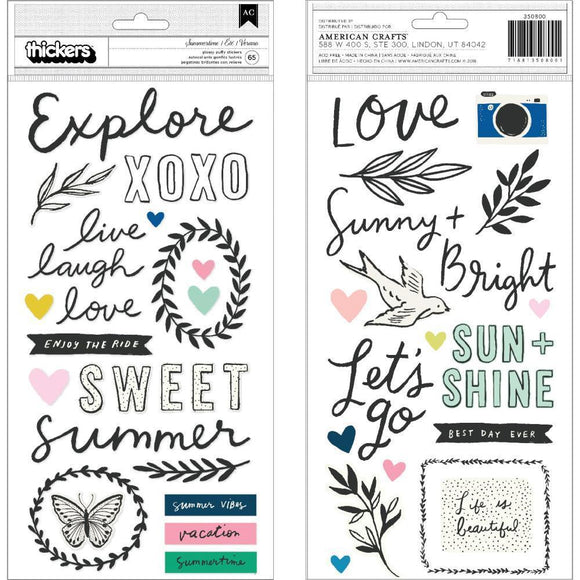 Scrapbooking  *** MORE ARRIVING SHORTLY**Maggie Holmes Sunny Days Thickers Stickers 5.5