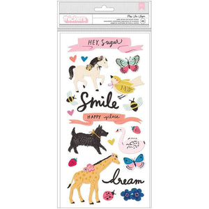 Scrapbooking  Maggie Holmes Sweet Story Thickers Stickers 43/Pkg Paper 12x12