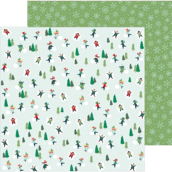 Scrapbooking  Merry Little Christmas Double-Sided Cardstock 12