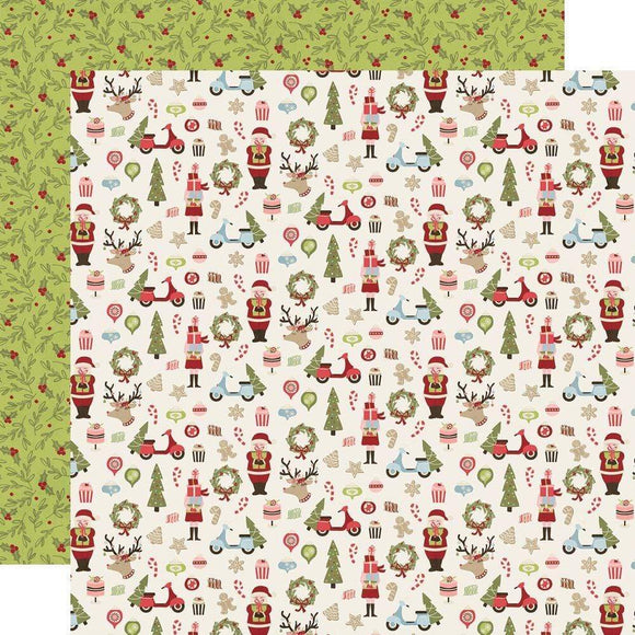 Scrapbooking  Simple Stories Holly Jolly Double-Sided Cardstock 12