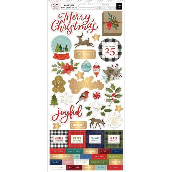 Scrapbooking  Together For Christmas Cardstock Stickers 5.5