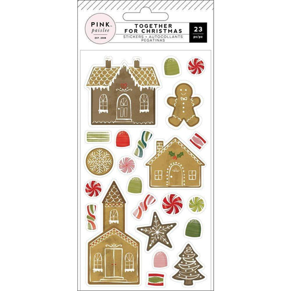 Scrapbooking  Together For Christmas Puffy Stickers 23/Pkg Gingerbread Paper 12x12