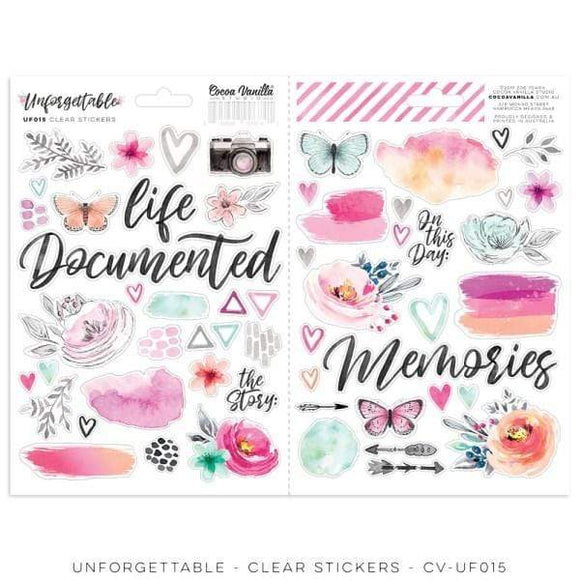 Scrapbooking  Unforgettable Clear Stickers Paper 12x12