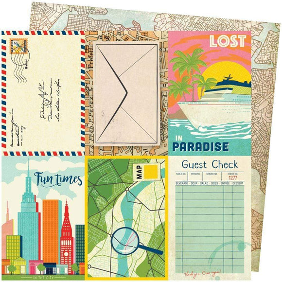Scrapbooking  Vicki Boutin Let's Wander Double-Sided Cardstock 12