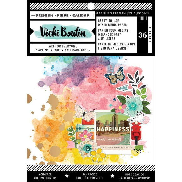 Scrapbooking  Vicki Boutin Mixed Media Backgrounds Paper 6