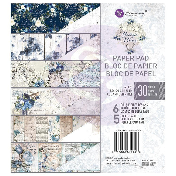 Scrapbooking  Georgia Blues Double-Sided Paper Pad 6