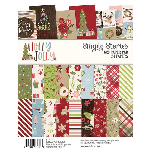 Scrapbooking  SS Holly Jolly Double-Sided Paper Pad 6