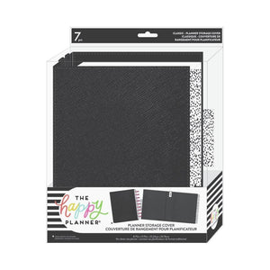 "Scrapbooking  Happy Planner Classic Planner Storage Cover 10""X7.25"" Black & Dots planner"