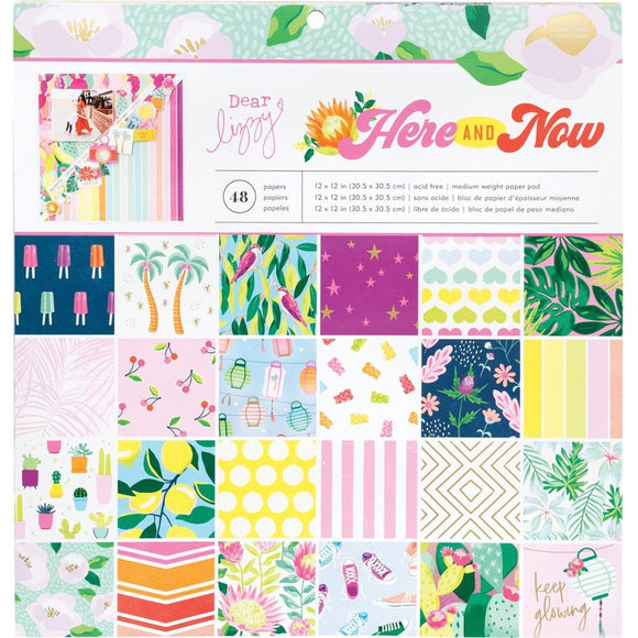 Scrapbooking  ***Arriving Shortly **Dear Lizzy Here & Now Single-Sided Paper Pad 12