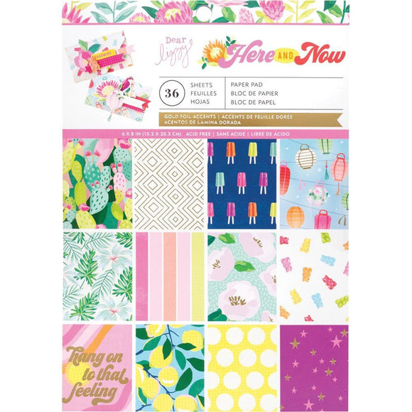 Scrapbooking  ***Arriving Shortly **Dear Lizzy Here & Now Single-Sided Paper Pad 6