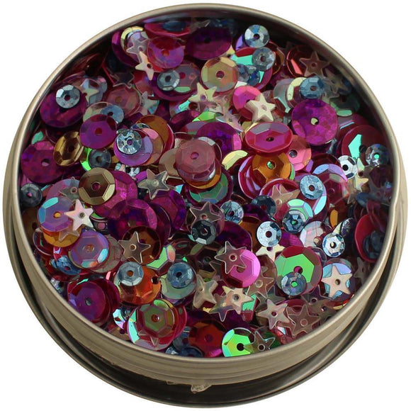 Scrapbooking  28 Lilac Lane Tin W/Sequins 40g - Mixed Berry sequins