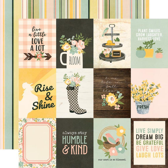 Scrapbooking  Spring Farmhouse Double-Sided Cardstock 12