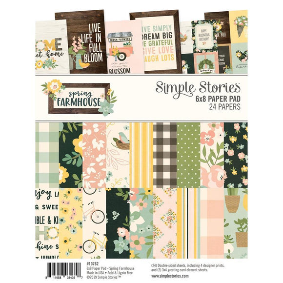 Scrapbooking  Spring Farmhouse -Double-Sided Paper Pad 6