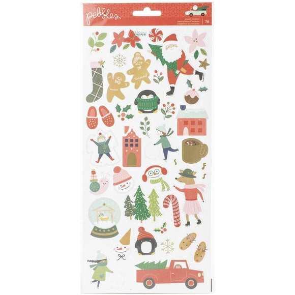Scrapbooking  Merry Little Christmas Cardstock Stickers 6