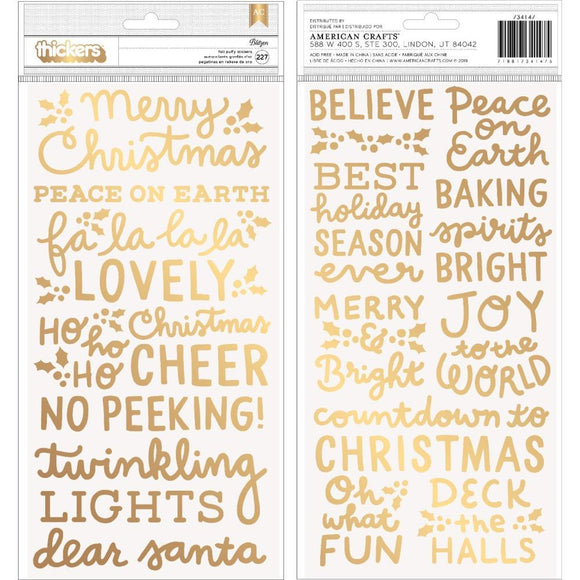 Scrapbooking  Merry Little Christmas Thickers Stickers 5.5