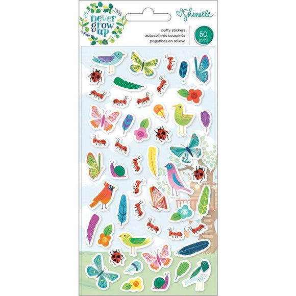 Scrapbooking  Shimelle Never Grow Up Puffy Stickers 50/Pkg Mini Icons thickers