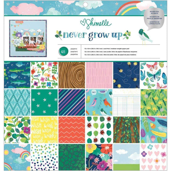 Scrapbooking  Shimelle Never Grow Up Single-Sided Paper Pad 12