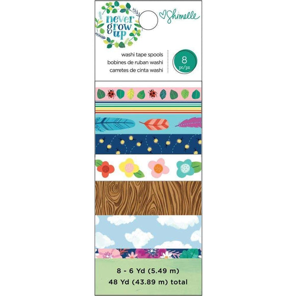 Scrapbooking  Shimelle Never Grow Up Washi Tape 8/Pkg thickers