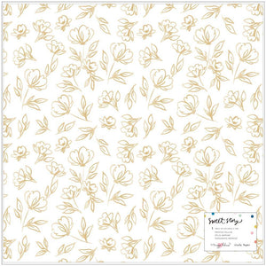"Scrapbooking  Maggie Holmes Sweet Story Single-Sided Vellum 12""X12"" Goldie Paper 12x12"