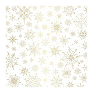 "Scrapbooking  Together For Christmas Specialty Vellum 12""X12"" Snow Flakes W/Gold Foil Paper 12x12"