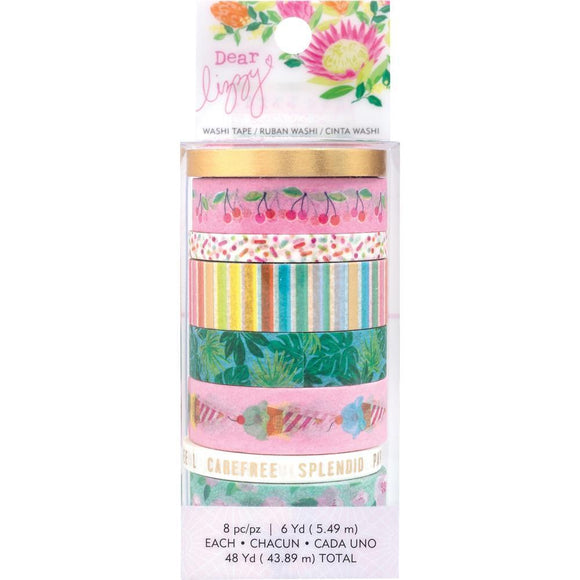 Scrapbooking  Dear Lizzy Here & Now Washi Tape 8/Pkg acetate