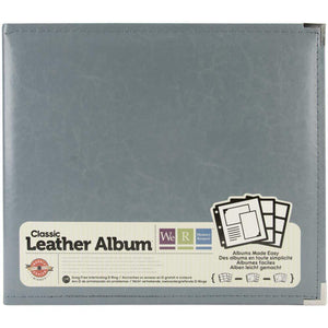 "Scrapbooking  We R Classic Leather D-Ring Album 12""X12"" Charcoal"