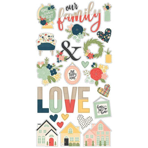 "Scrapbooking  So Happy Together Chipboard Stickers 6""X12"" Chipboards"