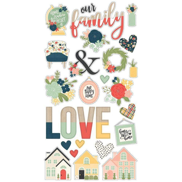 Scrapbooking  So Happy Together Chipboard Stickers 6