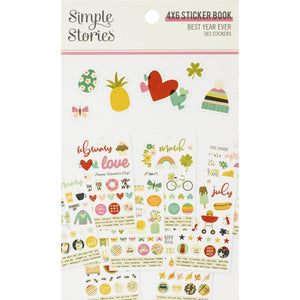 "Scrapbooking  Best Year Ever Stickers 4""X6"" 12/Pkg Embellishments"