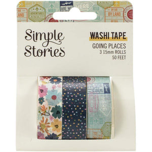 Scrapbooking  Going Places Washi Tape 3/Pkg Embellishments