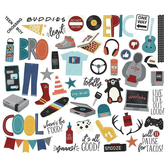 Scrapbooking  Bro & Co. Bits & Pieces Die-Cuts 57/Pkg Paper 12