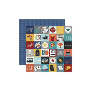 "Scrapbooking  Bro & Co. Double-Sided Cardstock 12""X12"" - 2""x2"" Elements Paper 12""x12"""