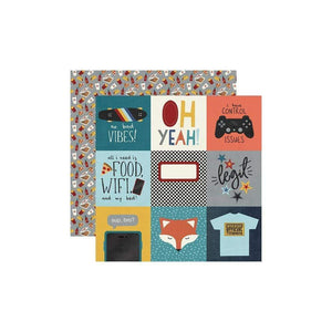 "Scrapbooking  Bro & Co. Double-Sided Cardstock 12""X12"" - 4""x4"" Elements Paper 12""x12"""