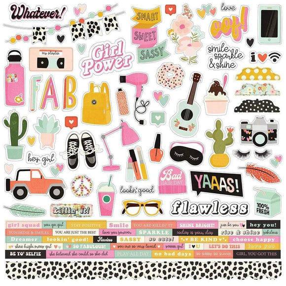 Scrapbooking  Kate & Ash Cardstock Stickers 12