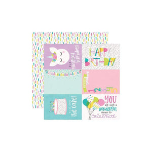 "Scrapbooking  Magical Birthday Double-Sided Cardstock 12""X12"" - 4x6 Elements Paper 12""x12"""