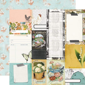 "Scrapbooking  Simple Vintage Farmhouse Garden Dbl-Sided Cardstock 12""X12"" Journal Elements Paper 12""x12"""