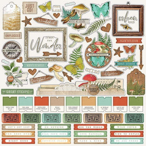 "Scrapbooking  Simple Vintage Great Escape Cardstock Stickers 12""X12"" Combo Paper 12""x12"""
