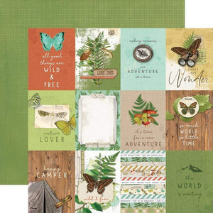 "Scrapbooking  Simple Vintage Great Escape Double-Sided Cardstock 12""X12"" -3""x4"" Elements Paper 12""x12"""